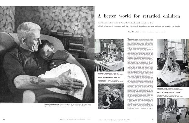 Article Preview: A better world for retarded children, November 1958 | Maclean's