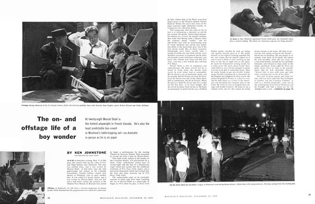 Article Preview: The onand offstage life of a boy wonder, November 1958 | Maclean's