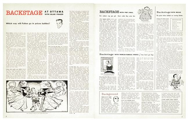Article Preview: Backstage WITH MUSIC, November 1958 | Maclean's