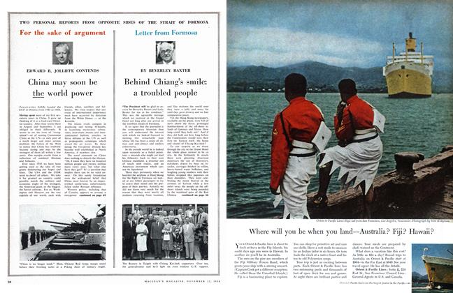 Article Preview: For the sake of argument, November 1958 | Maclean's