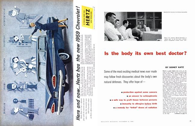 Article Preview: Is the body its own best doctor?, November 1958 | Maclean's