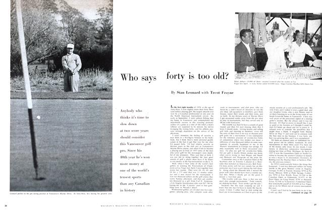 Article Preview: Who says forty is too old?, December 1958 | Maclean's