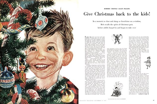 Article Preview: Give Christmas back to the kids!, December 1958 | Maclean's