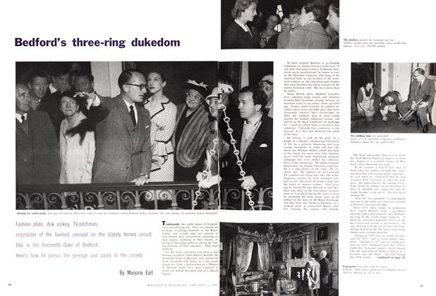 Article Preview: Bedford's three-ring dukedom, January 1959 | Maclean's