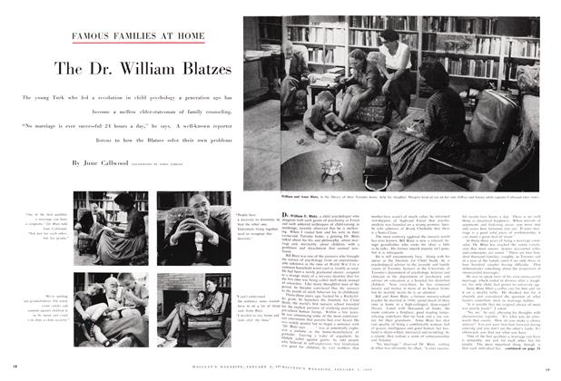 Article Preview: The Dr. William Blatzes, January 1959 | Maclean's