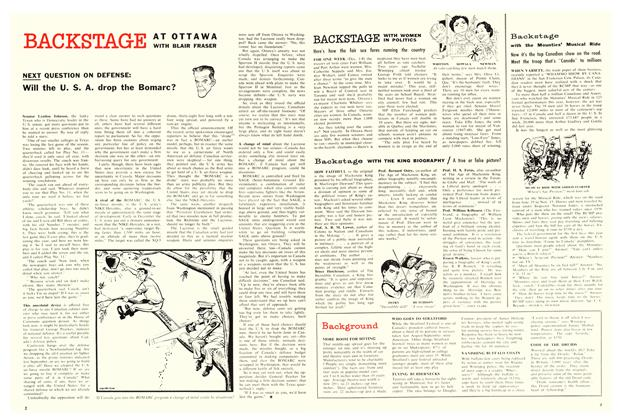 Article Preview: BACKSTAGE WITH WOMEN IN POLITICS, January 1959 | Maclean's