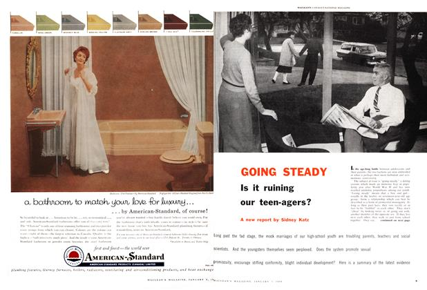Article Preview: GOING STEADY Is it ruining our teen-agers?, January 1959 | Maclean's