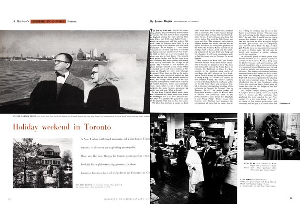 Article Preview: Holiday weekend in Toronto, January 1959 | Maclean's