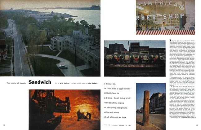 Article Preview: The streets of Canada: Sandwich, January 1959 | Maclean's