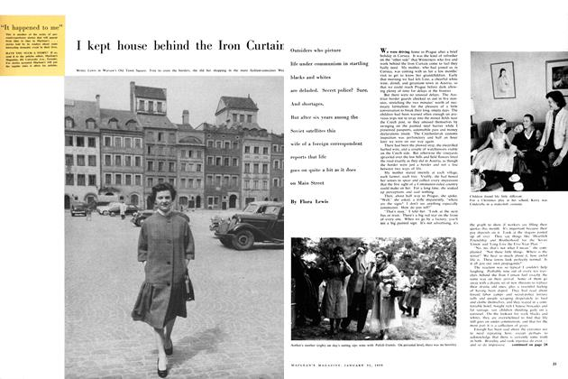 Article Preview: I kept house behind the Iron Curtain, January 1959 | Maclean's