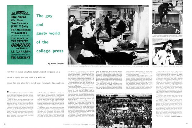 Article Preview: The gay and gusty world of the college press, January 1959 | Maclean's