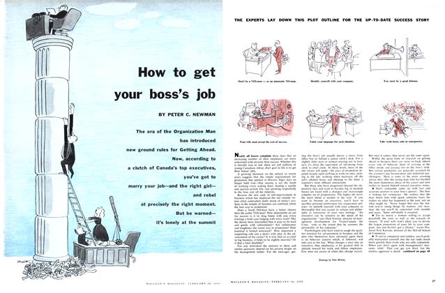 Article Preview: How to get your boss's job, February 1959 | Maclean's