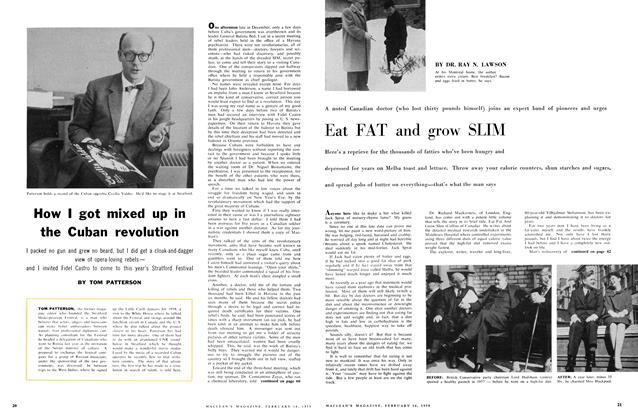 Article Preview: Eat FAT and grow SLIM, February 1959 | Maclean's
