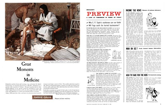 Article Preview: A LOOK AT TOMORROW IN TERMS OF TODAY, February 1959 | Maclean's