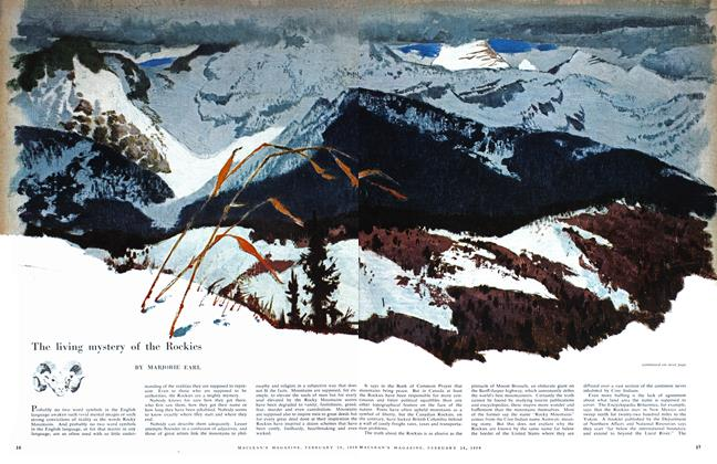 Article Preview: The living mystery of the Rockies, February 1959 | Maclean's