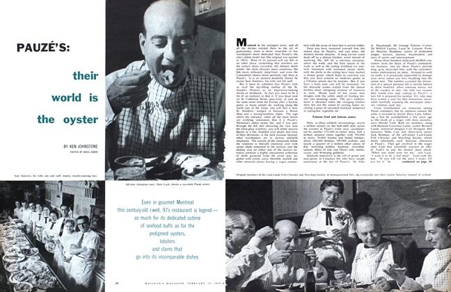 Article Preview: PAUZÉ'S: their world is the oyster, February 1959 | Maclean's
