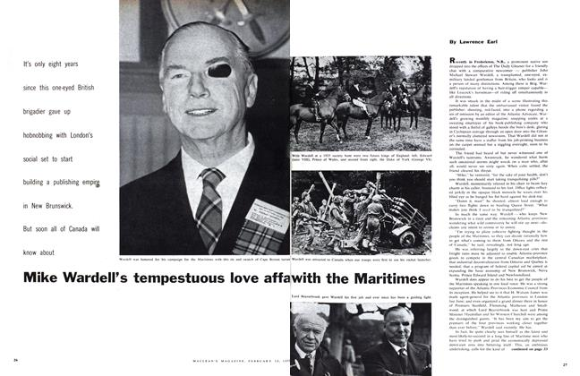 Article Preview: Mike Wardell's tempestuous love affa with the Maritimes, February 1959   Maclean's