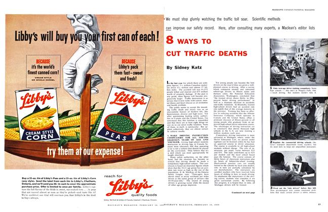 Article Preview: 8 WAYS TO CUT TRAFFIC DEATHS, February 1959 | Maclean's