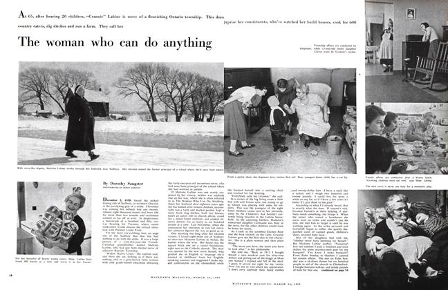Article Preview: The woman who can do anything, March 1959 | Maclean's