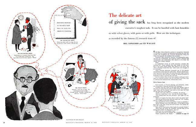 Article Preview: The delicate art of giving the sack, March 1959   Maclean's