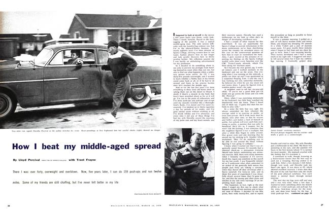 Article Preview: How I beat my middle-aged spread, March 1959   Maclean's
