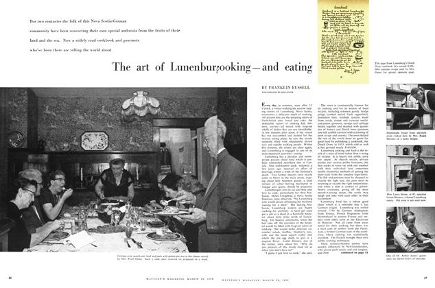 Article Preview: The art of Lunenburg cooking—and eating, March 1959 | Maclean's