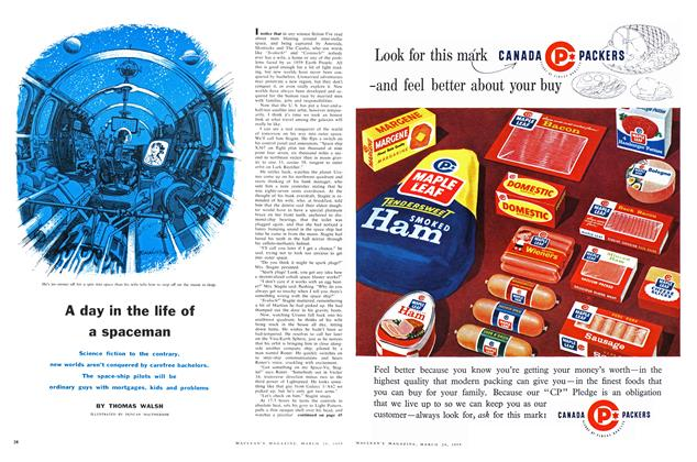 Article Preview: A day in the life of a spaceman, March 1959 | Maclean's