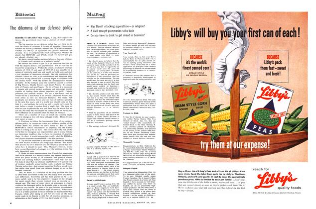 Article Preview: Mailbag, March 1959 | Maclean's
