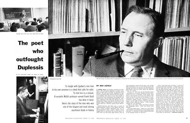 Article Preview: The poet who outfought Duplessis, April 1959 | Maclean's