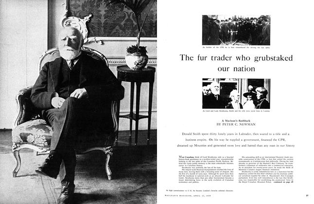 Article Preview: The fur trader who grubstaked our nation, April 1959 | Maclean's