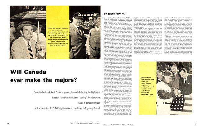 Article Preview: Will Canada ever make the majors?, April 1959 | Maclean's
