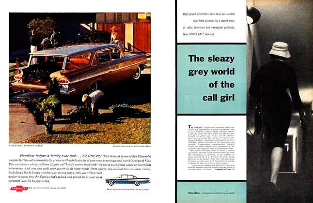 Article Preview: The sleazy grey world of the call girl, April 1959 | Maclean's
