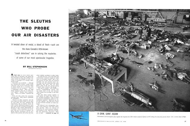 Article Preview: THE SLEUTHS WHO PROBE OUR AIR DISASTERS, April 1959 | Maclean's