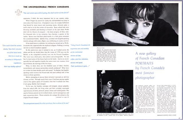 Article Preview: A new gallery of French Canadian PORTRAITS by French Canada's most famous photographer, May 1959 | Maclean's
