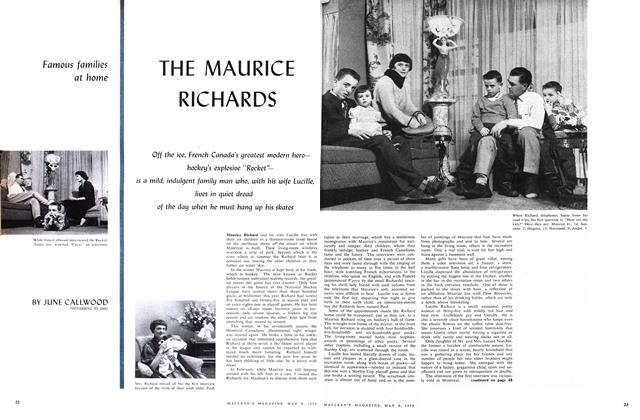 Article Preview: THE MAURICE RICHARDS, May 1959 | Maclean's