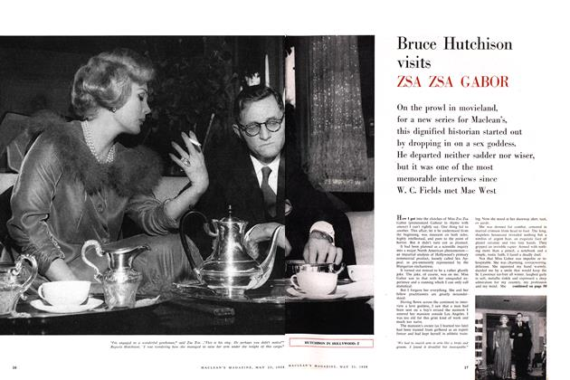 Article Preview: Bruce Hutchison visits ZSA ZSA GABOR, May 1959 | Maclean's