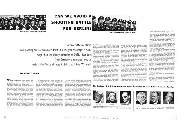 Article Preview: CAN WE AVOID A SHOOTING BATTLE FOR BERLIN?, May 1959 | Maclean's