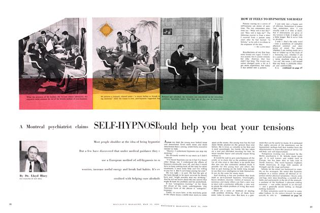 Article Preview: A Montreal psychiatrist claims SELF-HYPNOSIS, May 1959 | Maclean's