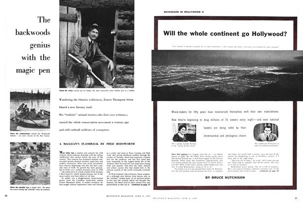 Article Preview: The backwoods genius with the magic pen, June 1959 | Maclean's