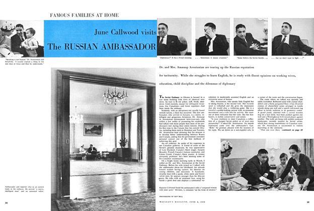Article Preview: June Callwood visits The RUSSIAN AMBASSADOR, June 1959 | Maclean's