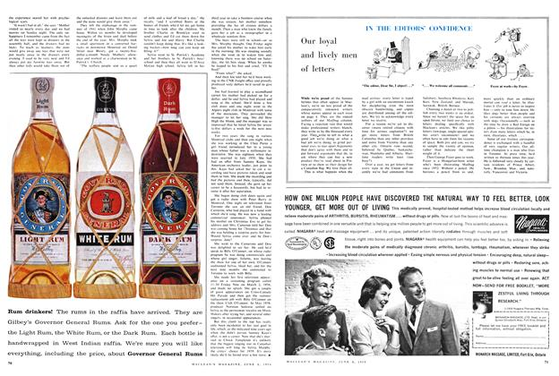 Article Preview: Our loyal and lively men of letters, June 1959 | Maclean's