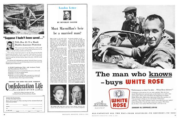 Article Preview: Must Macmillan's heir be a married man?, June 1959 | Maclean's