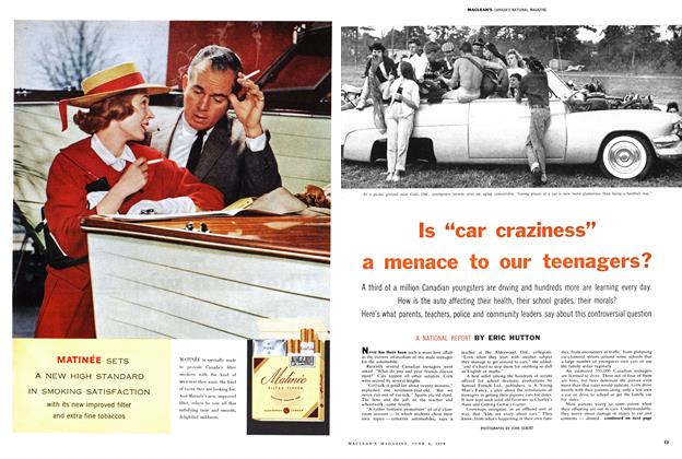 "Article Preview: Is ""car craziness"" a menace to our teenagers?, June 1959 