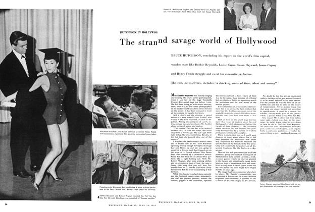 Article Preview: The strange and savage world of Hollywood, June 1959 | Maclean's