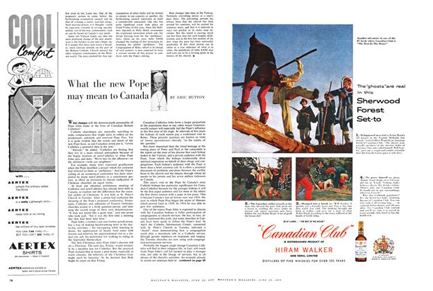 Article Preview: What the new Pope may mean to Canada, June 1959 | Maclean's