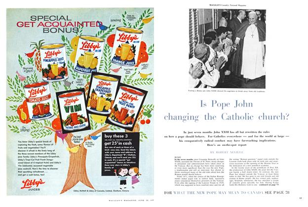 Article Preview: Is Pope John changing the Catholic church?, June 1959 | Maclean's