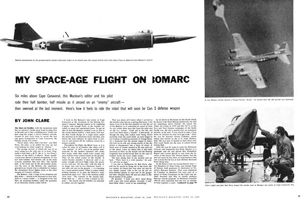 Article Preview: MY SPACE-AGE FLIGHT ON BOMARC, June 1959 | Maclean's