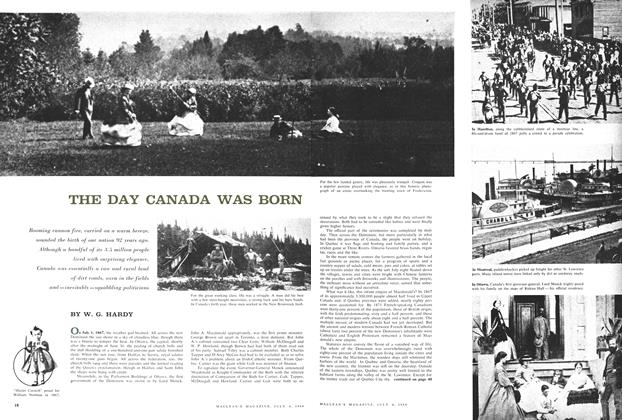 Article Preview: THE DAY CANADA WAS BORN, July 1959 | Maclean's