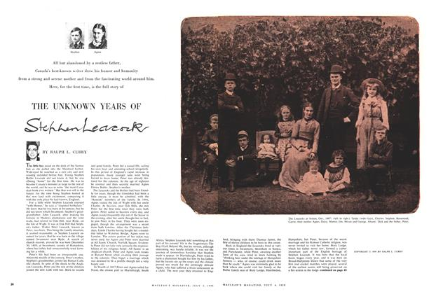 Article Preview: THE UNKNOWN YEARS OF Stephen Leacock, July 1959 | Maclean's
