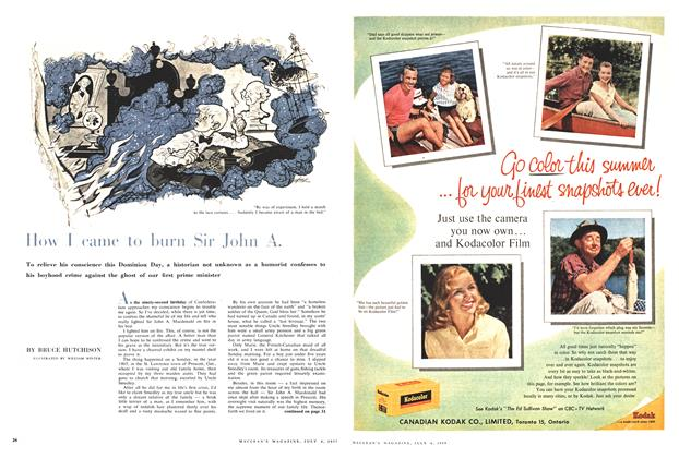 Article Preview: How I came to burn Sir John A, July 1959 | Maclean's